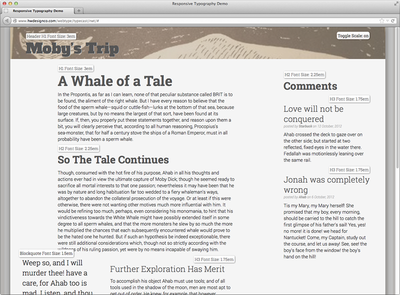 A More Modern Scale For Web Typography Typecast